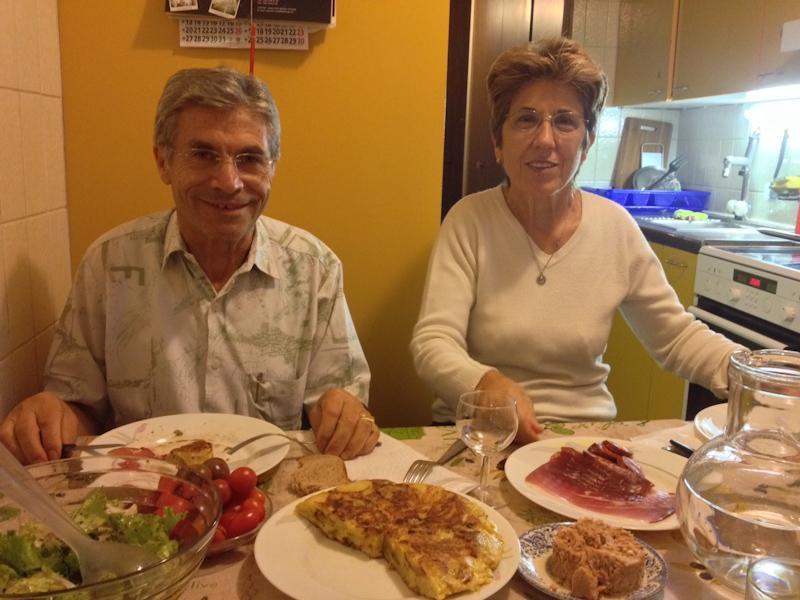 Cena gallega en casa de Faustino.