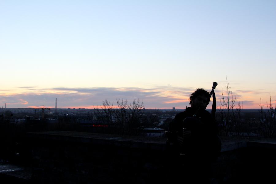 Atardecer al sonido de la gaita en Tallin.