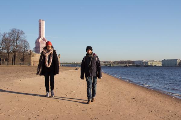 """Shane y Dominique, nos encontramos de casualidad en la playa fluvial de """"Piter"""""""