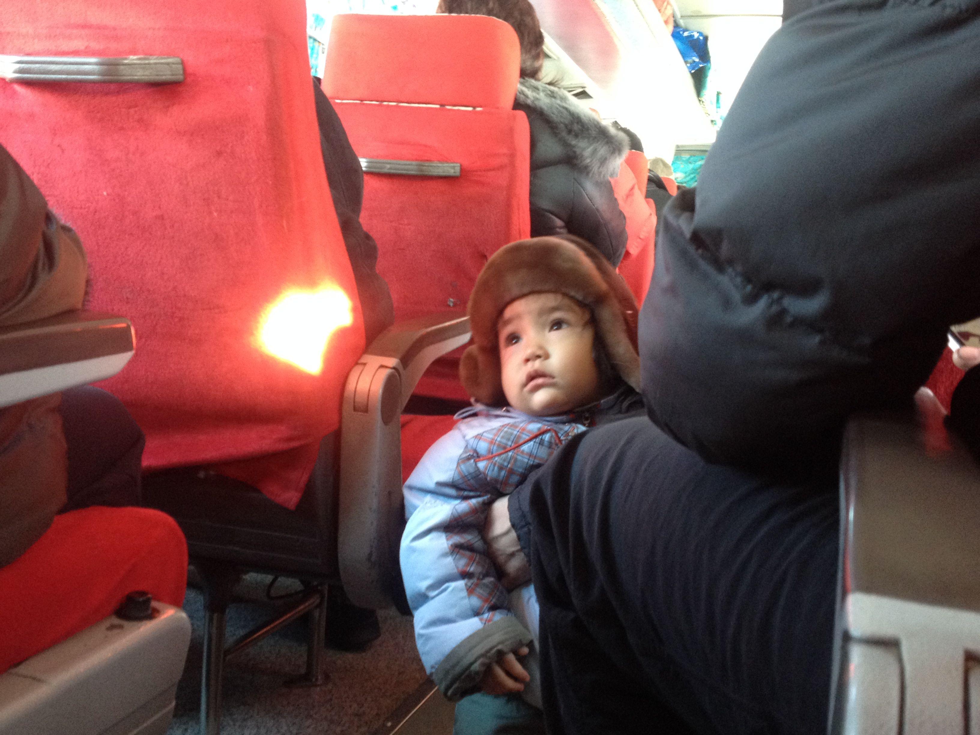 Mi primer contacto mongol en el autobús.