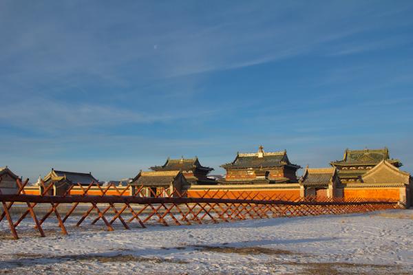 Templo budista que visitamos antes de dirigirnos hacia el Valle de Orkhom.