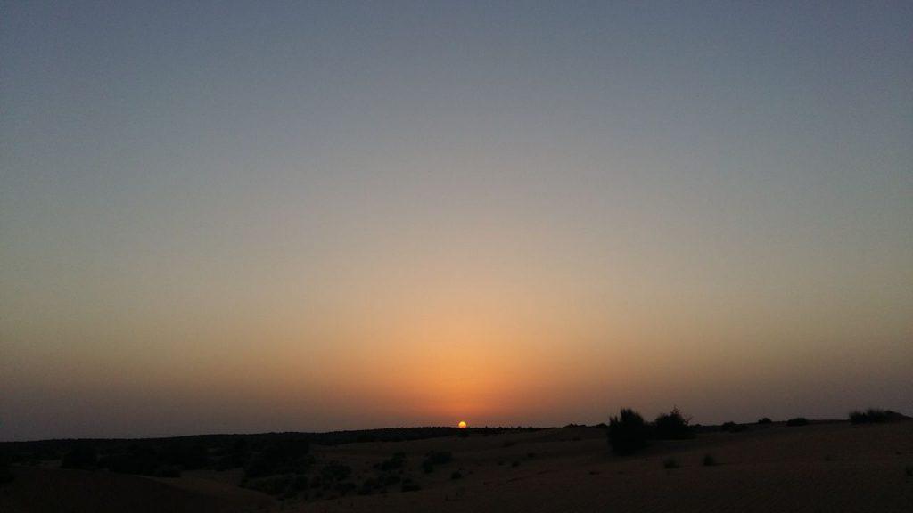 La luz del Sol ocultándose tras las dunas es algo que jamás olvidaré